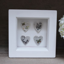 Butterfly small hearts frame
