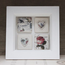 Bird and floral small tile frame