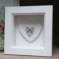 Butterfly heart small frame