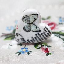 Butterfly heart ring