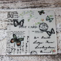 Coaster square butterflies