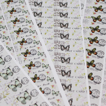 Sticker sheets with butterflies