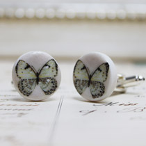 Blue butterfly cufflinks