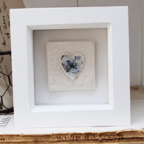 Blue bird small tile frame