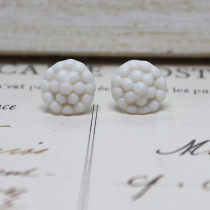 Bobble button stud earrings