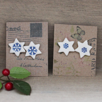 Snowflake star earrings