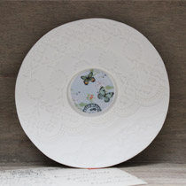 Butterfly round saucer