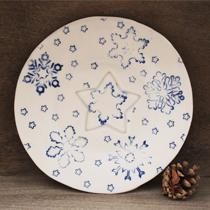 Snowflake Christmas plate