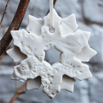 Double snowflake Christmas decoration