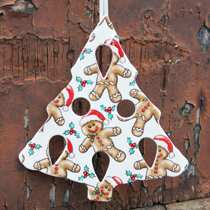 Christmas tree gingerbread man decoration