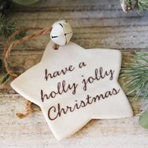 Star have a holly jolly christmas decoration