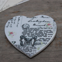 Coaster heart butterfly