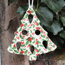 Christmas tree holly decoration
