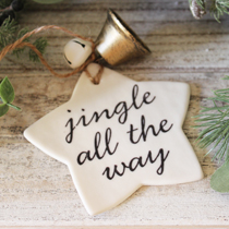 Star jingle all the way decoration