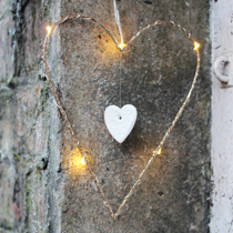 Gold LED Heart Decoration