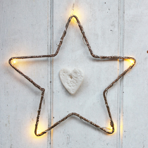 Gold LED Star Decoration