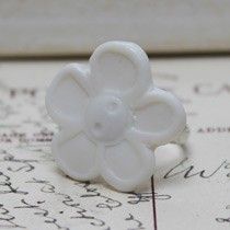 Large flower button ring