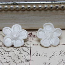 Large flower button stud earrings