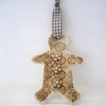 Gingerbread man hanging decoration