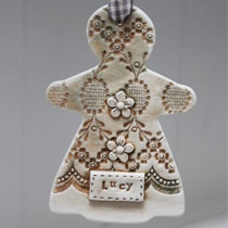 Personalised large Gingerbread lady decoration