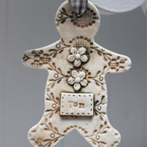 Personalised large Gingerbread man decoration