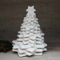 Medium lace Christmas tree