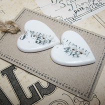 Tape measure heart buttons