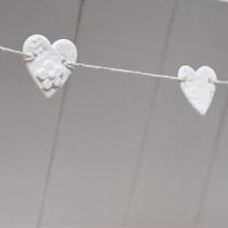 Daisy heart mini bunting