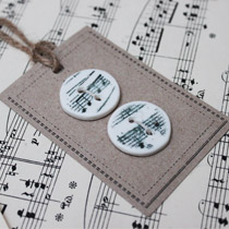Music note round buttons