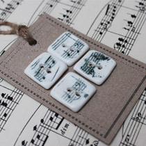 Music note square buttons