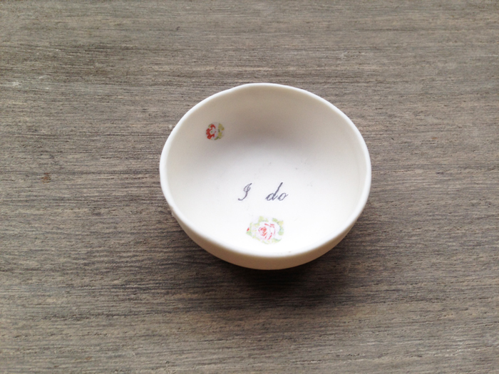 Personalised mini porcelain dish