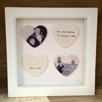 Personalised framed hearts