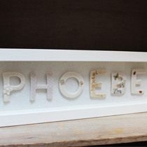 Personalised name frame
