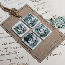 Vintage stamp buttons