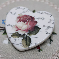 Rose heart brooch