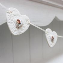 Rose heart bunting