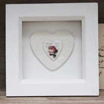 Rose heart small frame