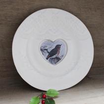 Robin Christmas plate