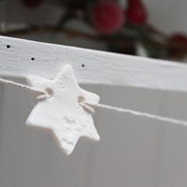 Christmas star and snowflake garland