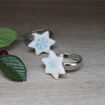 Snowflake star ring