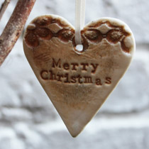 Merry Christmas heart decoration