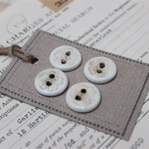 Flower imprinted round buttons