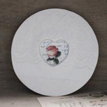 Rose heart saucer
