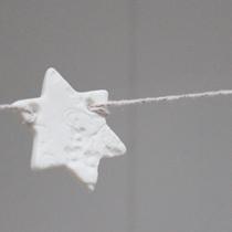 Christmas star garland