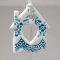 Turquoise lace house hanging decoration