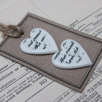 Handwriting heart buttons