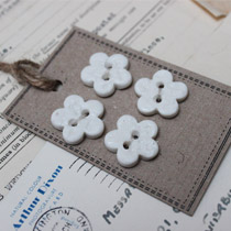 White lace flower buttons