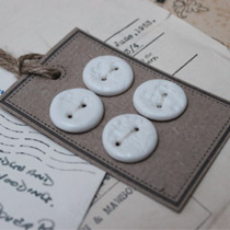 White lace round buttons