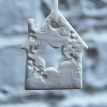 White lace star house Christmas decoration