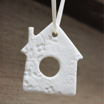 White lace house hanging decoration